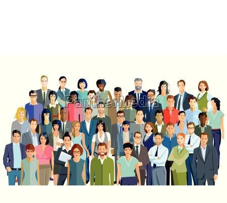 grupa ludzi i partnerstwozdjecie grupowe