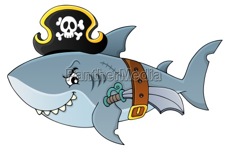 pirat shark tematu obraz 4