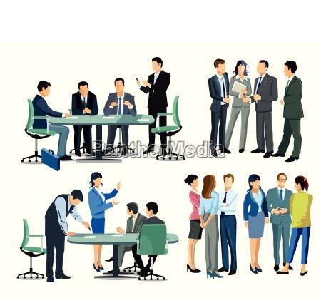 spotkanie biznesowe wsrod ludzi biznesu