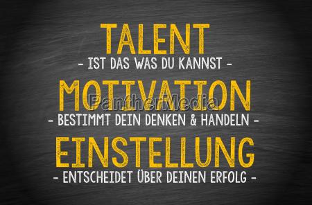 talent motywacja postawa sukces