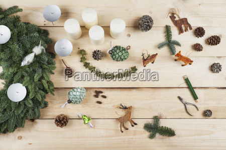 still life zielony drewno drewna swieczka