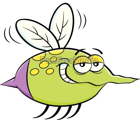kreskowki ilustracja latajacy insekt