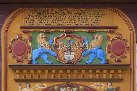 detail of the coloured renaissace entrance