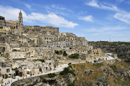 medieval old town sassi di matera
