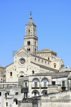 cathedral in medieval old town sassi
