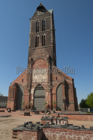 tower of st mary gothic brick