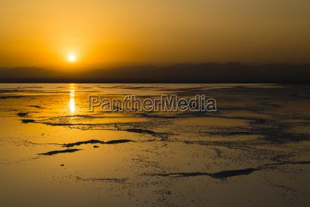sunset over the salt lake lake