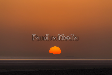 sunrise over the salt lake lake