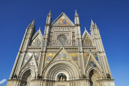 14th century gothic facade of the