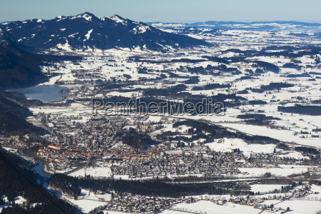 panorama from the tegelberg massif on