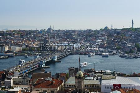 view of istanbul galata bridge galata