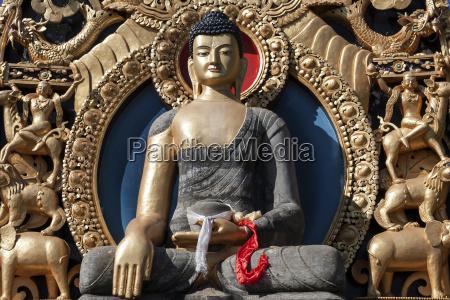 religion temple buddha golden gilt faiths
