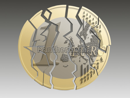 symbolic political closeup graphic euro currency