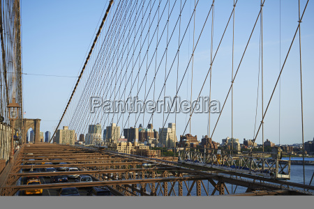 view from brooklyn bridge across new