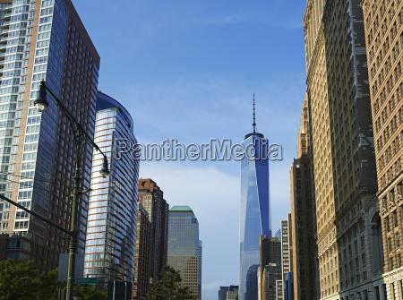 niebieski wieza biuro jazda podrozowanie miasto
