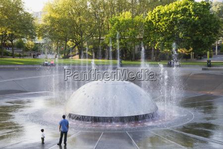 international fountain at seattle center seattle