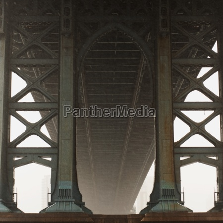 underneath manhattan bridge new york city