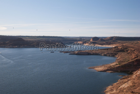 shoreline of lake powell arizona united