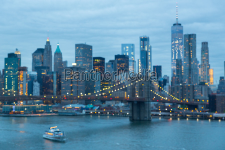 out of focus image of brooklyn