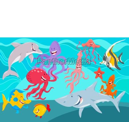 morze zycie zwierzeta postaci z kreskowek