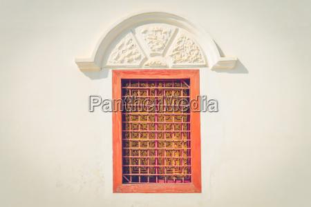 closed orange brown windows frame
