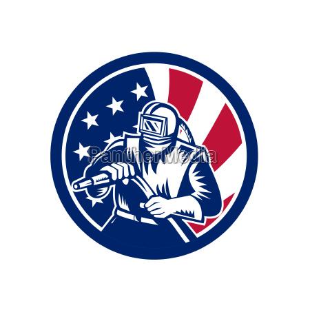 ikona amerykanskiego piaskowca usa