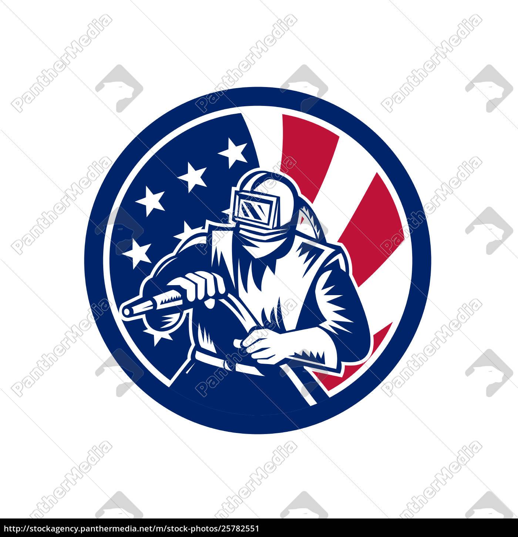 american, sandblaster, usa, flag, icon - 25782551