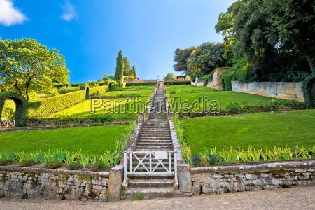 park ogrod ogrodek florencja pejzaz krajobraz