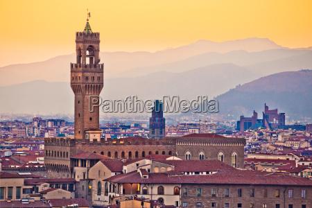 statula toskania plac florencja kwadrat italia