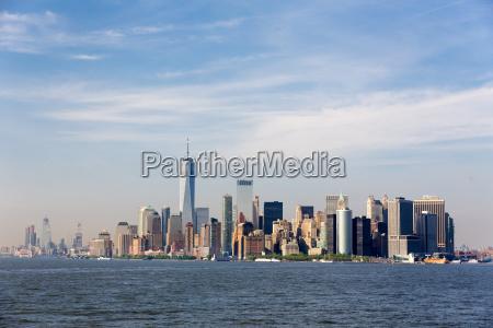 panoramic view of lower manhattan new