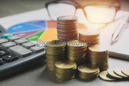 indeksy gieldowe z monet stosu finansowym