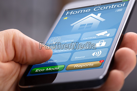 mobile phone with home control application