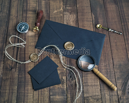 vintage, czarna, papeteria - 25887306