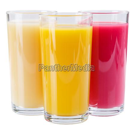 koktajl soku w szklanym placu izolowanym
