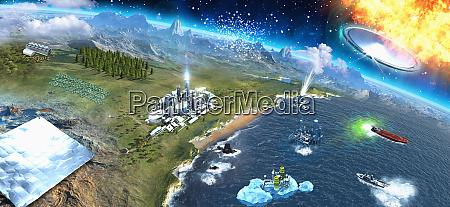 widok ziemi z kosmosu