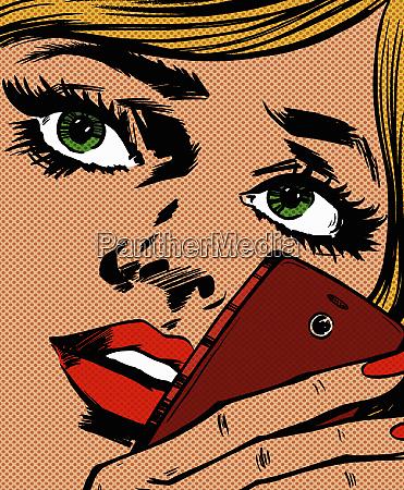 piekna kobieta kontemplacja wiadomosci tekstowej