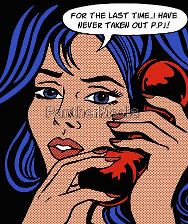 podrazniona kobieta odpowiadanie na ubezpieczenie telefoniczne