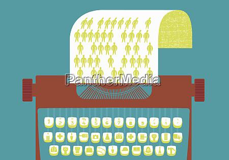 maszyna do pisania z kluczami graficznymi