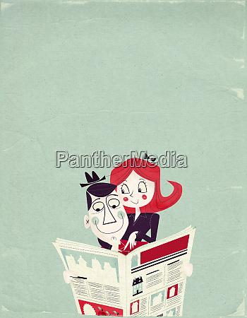 kilka czytania reklamy nieruchomosci w gazecie