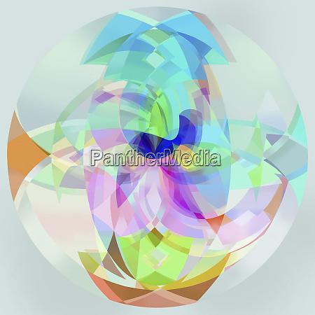 abstrakcyjna wielokolorowy polprzezroczysty kula