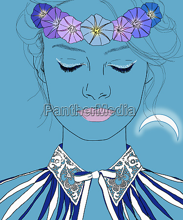 serene virgo woman zodiac sign with