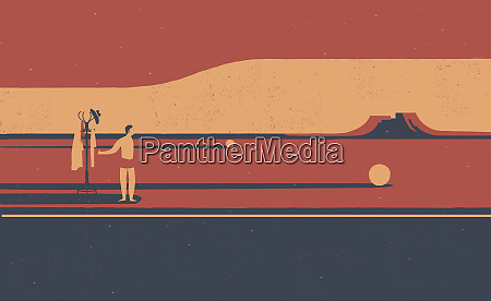 hitchhiker w pustyni przygotowane na dlugo