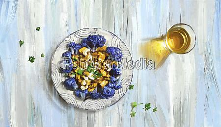 fioletowy, kalafior, i, orzech, nerkowca, curry - 26015854