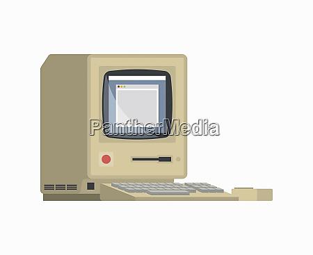 retro komputer stacjonarny