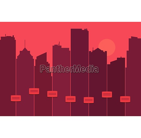 silhouette di uno skyline della citta