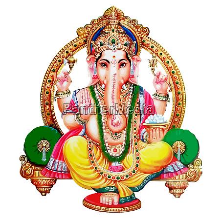 hinduski bozek chrzescijanski ilustracja mitologia na