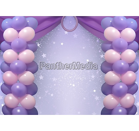 birthday, background, with, party, balloons - 26053008