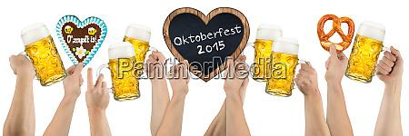 oktoberfest beer hands