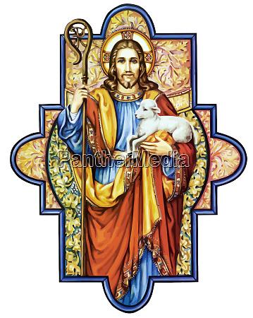 jezus chrystus ilustracja milosc pokoj przekonanie
