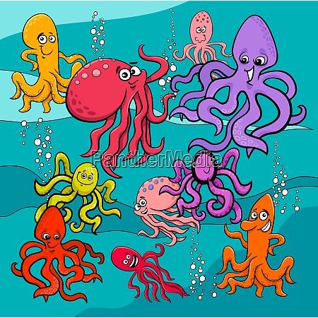 grupa postacie kreskowka ryba
